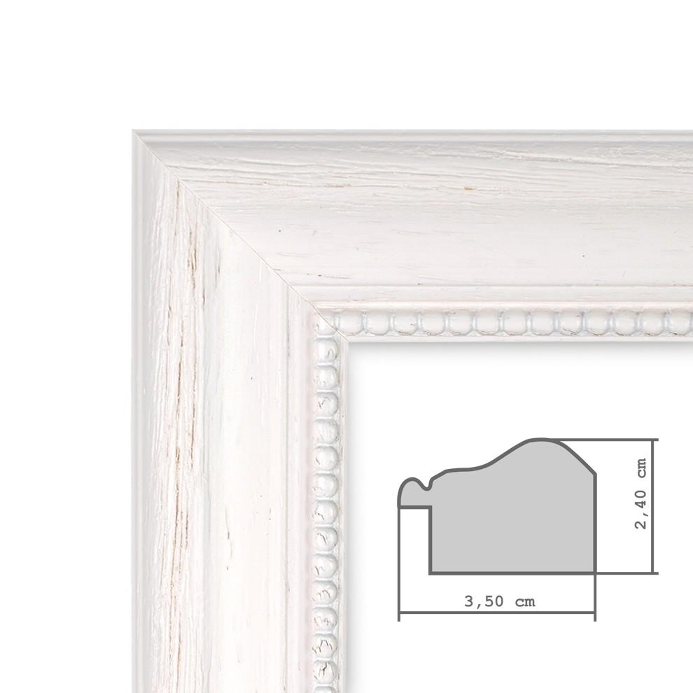 Fotocollage-Bilderrahmen 30x30 cm im Landhaus-Stil Weiss ...