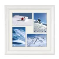 Collage-Bilderrahmen / Bildergalerie 30x30 cm Landhaus-Stil Weiss für 4 Bilder