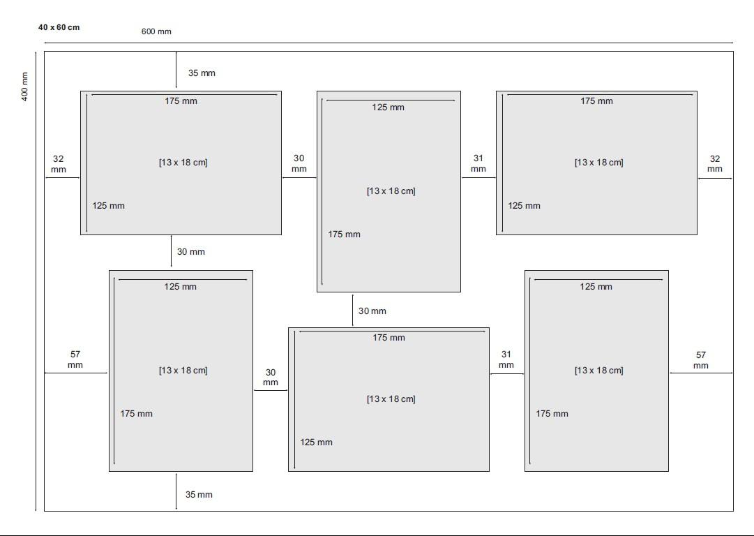Fotocollage-Bilderrahmen 40x60 cm im Landhaus-Stil Weiss ...
