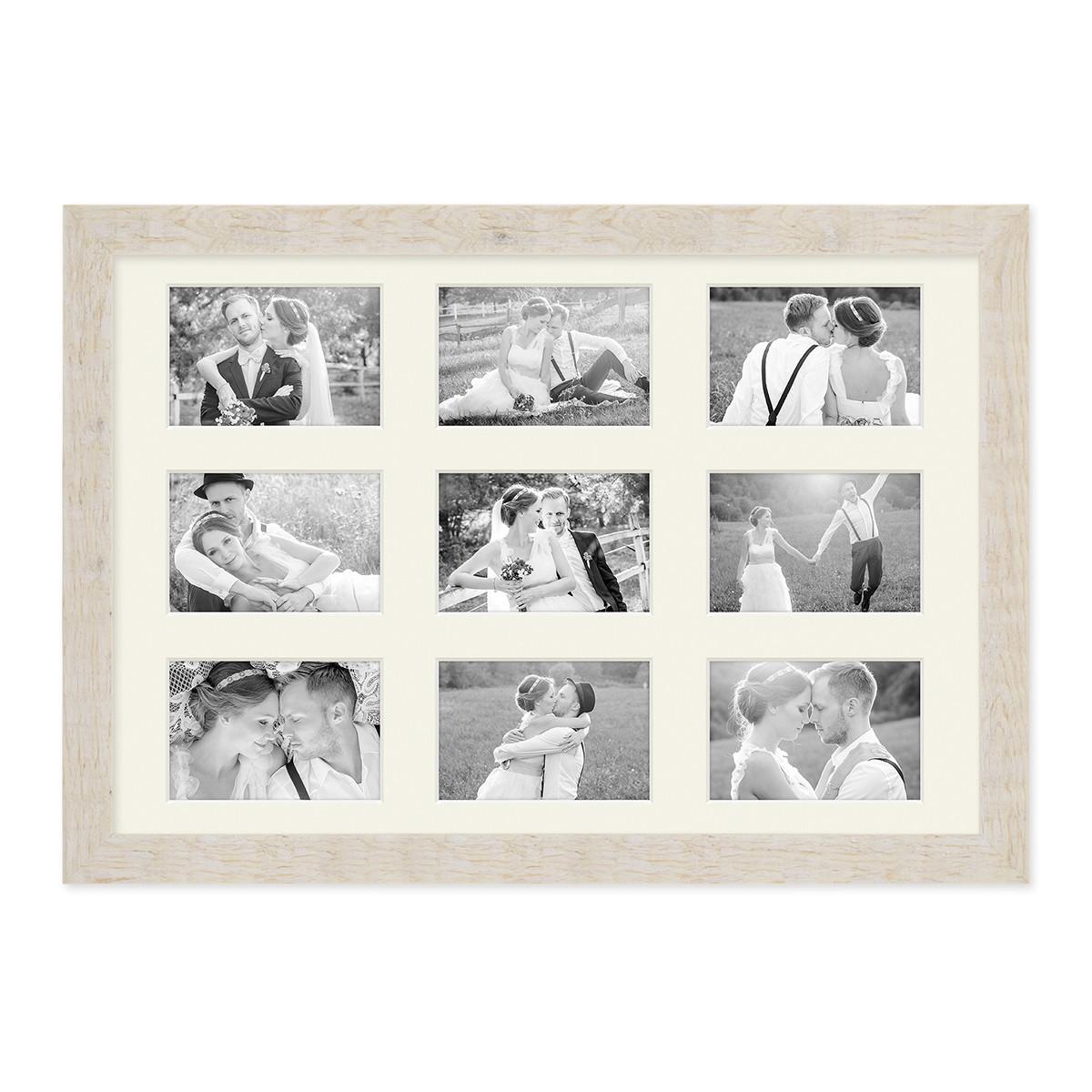 Fotocollage-Bilderrahmen 40x60 cm im Strandhaus-Stil Weiss ...