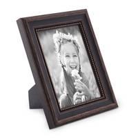 Bilderrahmen 15x20 cm Shabby-Chic Landhaus-Stil Dunkelbraun Massivholz mit Glasscheibe und Zubehör / Fotorahmen  – Bild 1