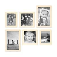 6er Set Bilderrahmen Skandinavischer Landhaus-Stil Weiss 15x20, 20x20 und 20x30 cm inkl. Zubehör / Fotorahmen / Wechselrahmen – Bild 3