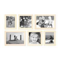 6er Set Bilderrahmen Skandinavischer Landhaus-Stil Weiss 15x20 20x20 und 20x30 cm inkl. Zubehör / Fotorahmen / Wechselrahmen