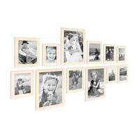 12er Set Bilderrahmen Skandinavischer Landhaus-Stil Weiss 10x15 bis 20x30 cm inklusive Zubehör / Fotorahmen / Wechselrahmen