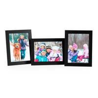 3er Set Bilderrahmen 15x20 cm Schwarz Modern aus MDF mit Glasscheibe und Zubehör / Fotorahmen  – Bild 4