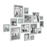 15er Set Bilderrahmen Skandinavischer Landhaus-Stil Petrol / Taubenblau 10x15 bis 20x30 cm inklusive Zubehör / Fotorahmen / Wechselrahmen – Bild 2