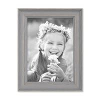 2er Set Bilderrahmen Skandinavischer Landhaus-Stil Grau-Braun 13x18 cm Massivholz mit Shabby-Chic Note / Fotorahmen / Wechselrahmen – Bild 7