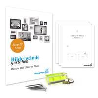 2er Set Bilderrahmen Skandinavischer Landhaus-Stil Grau-Braun 20x20 cm Massivholz mit Shabby-Chic Note / Fotorahmen / Wechselrahmen – Bild 3