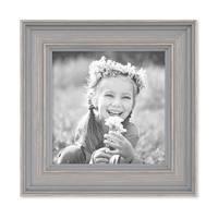 3er Set Bilderrahmen Skandinavischer Landhaus-Stil Grau-Braun 10x10 cm Massivholz mit Shabby-Chic Note / Fotorahmen / Wechselrahmen – Bild 6