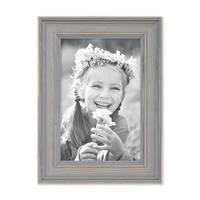 3er Set Bilderrahmen Skandinavischer Landhaus-Stil Grau-Braun 10x15 cm Massivholz mit Shabby-Chic Note / Fotorahmen / Wechselrahmen – Bild 7