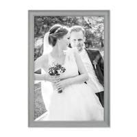 3er Set Bilderrahmen Skandinavischer Landhaus-Stil Grau-Braun 30x45 cm Massivholz mit Shabby-Chic Note / Fotorahmen / Wechselrahmen – Bild 3
