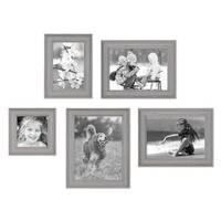 5er Set Bilderrahmen Skandinavischer Landhaus-Stil Grau-Braun 10x10, 10x15, 13x18 und 15x20 cm inkl. Zubehör / Fotorahmen / Wechselrahmen – Bild 2