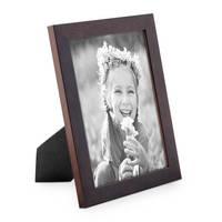 Bilderrahmen 15x20 cm Nuss Modern Massivholz-Rahmen mit Glasscheibe und Zubehör / Fotorahmen  – Bild 1