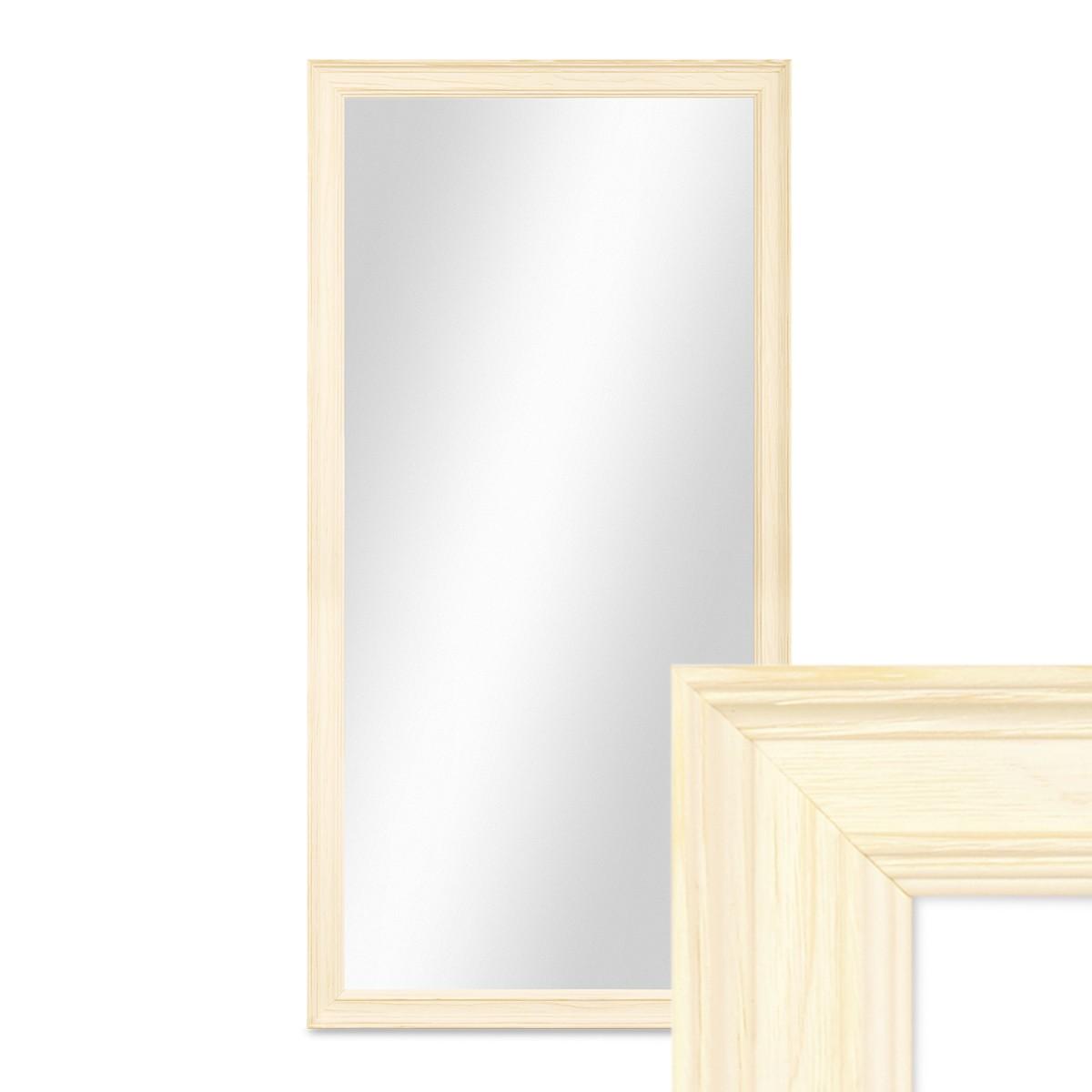 Wand-Spiegel 34x64 cm im Holzrahmen Skandinavisches Design Weiss ...