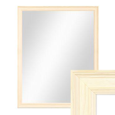 Wand-Spiegel 44x54 cm im Holzrahmen Skandinavisches Design Weiss / Spiegelfläche 40x50 cm
