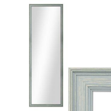 Wand-Spiegel 34x94 cm im Holzrahmen Skandinavisches Design Petrol / Spiegelfläche 30x90 cm