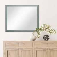 Wand-Spiegel 44x54 cm im Holzrahmen Skandinavisches Design Petrol / Spiegelfläche 40x50 cm – Bild 4