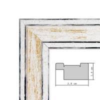 Wand-Spiegel 24,5x34,5 cm im Holzrahmen Pastell Vintage Look / Alt-Weiß Gold / Spiegelfläche 20x30 cm – Bild 5