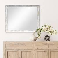 Wand-Spiegel 44,5x54,5 cm im Holzrahmen Pastell Vintage Look / Alt-Weiß Gold / Spiegelfläche 40x50 cm – Bild 4