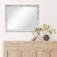 Wand-Spiegel 44,5x54,5 cm im Holzrahmen Pastell Vintage Look / Alt-Weiß Silber / Spiegelfläche 40x50 cm – Bild 4