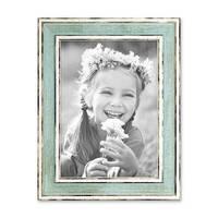 Bilderrahmen Pastell / Alt-Weiß Hellblau 13x18 cm Massivholz mit Vintage Look / Fotorahmen / Wechselrahmen – Bild 4