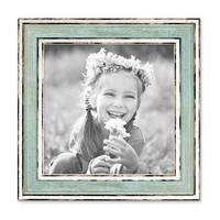 2er Set Bilderrahmen Pastell / Alt-Weiß Hellblau 15x15 cm Massivholz mit Glasscheibe und Aufsteller und Zubehör / Fotorahmen / Wechselrahmen – Bild 4