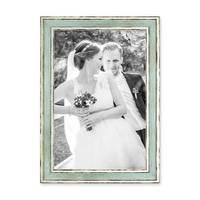 2er Set Bilderrahmen Pastell / Alt-Weiß Hellblau 20x30 cm Massivholz mit Vintage Look / Fotorahmen / Wechselrahmen – Bild 4