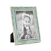 3er Set Bilderrahmen Pastell / Alt-Weiß Hellblau 15x20 cm Massivholz mit Vintage Look / Fotorahmen / Wechselrahmen – Bild 2