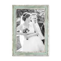 3er Set Bilderrahmen Pastell / Alt-Weiß Hellblau 20x30 cm Massivholz mit Vintage Look / Fotorahmen / Wechselrahmen – Bild 4