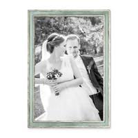 3er Set Bilderrahmen Pastell / Alt-Weiß Hellblau 30x42 cm / DIN A3 Massivholz mit Vintage Look / Fotorahmen / Wechselrahmen – Bild 4