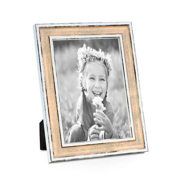 Bilderrahmen Pastell / Alt-Weiß Rosa 13x18 cm Massivholz mit Vintage Look / Fotorahmen / Wechselrahmen