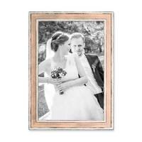 Bilderrahmen Pastell / Alt-Weiß Rosa 21x30 cm / DIN A4 Massivholz mit Vintage Look / Fotorahmen / Wechselrahmen – Bild 1