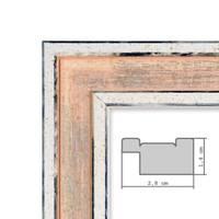 Bilderrahmen Pastell / Alt-Weiß Rosa 30x45 cm Massivholz mit Vintage Look / Fotorahmen / Wechselrahmen – Bild 2