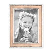 3er Set Bilderrahmen Pastell / Alt-Weiß Rosa 13x18 cm Massivholz mit Vintage Look / Fotorahmen / Wechselrahmen – Bild 5