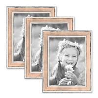 3er Bilderrahmen-Set 18x24 cm Pastell Vintage Look Rosa