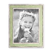 Bilderrahmen Pastell / Alt-Weiß Hellgrün 18x24 cm Massivholz mit Vintage Look / Fotorahmen / Wechselrahmen – Bild 4
