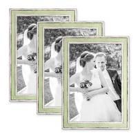 3er Bilderrahmen-Set 21x30 cm / DIN A4 Pastell Vintage Look Hellgrün