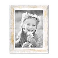 3er Set Bilderrahmen Pastell / Alt-Weiß Gold 18x24 cm Massivholz mit Vintage Look / Fotorahmen / Wechselrahmen – Bild 6