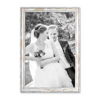 3er Set Bilderrahmen Pastell / Alt-Weiß Gold 30x40 cm Massivholz mit Vintage Look / Fotorahmen / Wechselrahmen – Bild 4