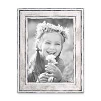 Bilderrahmen Pastell / Alt-Weiß Silber 13x18 cm Massivholz mit Vintage Look / Fotorahmen / Wechselrahmen – Bild 4