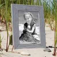 Bilderrahmen 10x15 cm Strandhaus Grau Rustikal Massivholz mit Glasscheibe inkl. Zubehör / Fotorahmen  – Bild 3