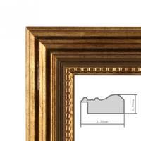 5er Set Bilderrahmen 10x10 cm Gold Barock Antik Massivholz mit Glasscheibe und Zubehör / Fotorahmen / Barock-Rahmen  – Bild 4