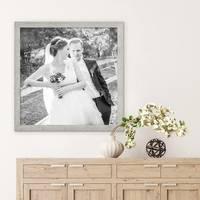 Bilderrahmen 50x50 cm Strandhaus Grau Rustikal Massivholz mit Glasscheibe inkl. Zubehör / Fotorahmen  – Bild 2