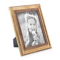 5er Set Bilderrahmen 13x18 cm Gold Barock Antik Massivholz mit Glasscheibe und Zubehör / Fotorahmen / Barock-Rahmen  – Bild 3