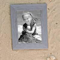 2er Bilderrahmen-Set 20x30 cm Strandhaus Grau Rustikal Massivholz mit Glasscheibe inkl. Zubehör / Fotorahmen  – Bild 2