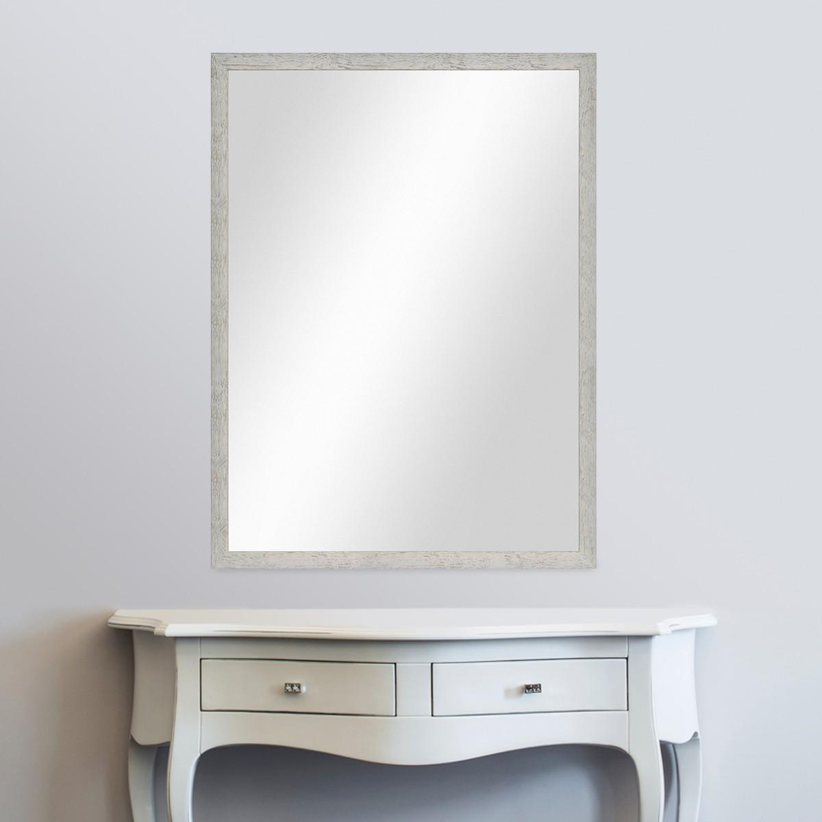 wand spiegel 66x86 cm im massivholz rahmen strandhaus stil rustikal grau spiegelfl che 60x80. Black Bedroom Furniture Sets. Home Design Ideas