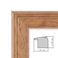 Fotocollage-Bilderrahmen 30x60 cm im Landhaus-Stil, Eiche-Optik, Collagerahmen, Bildergalerie-Rahmen für 8 Bilder, Wechselrahmen mit Passepartout – Bild 4