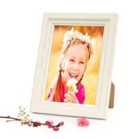 Bilderrahmen Landhaus-Stil Shabby-Chic Weiss 10x15 cm Massivholz / Fotorahmen / Portraitrahmen  – Bild 1