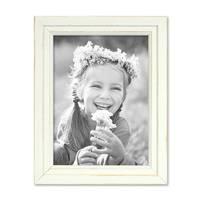 Bilderrahmen Landhaus-Stil Shabby-Chic Weiss 10x15 cm Massivholz / Fotorahmen / Portraitrahmen  – Bild 4