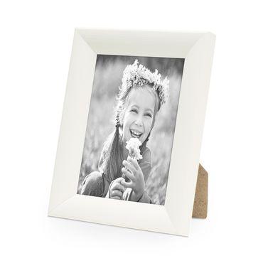 Bilderrahmen Landhaus-Stil Weiss 15x20 cm Holz-Rahmen / Fotorahmen / Portraitrahmen